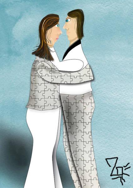 Digital Art - Empathy Marriage by Tatiana Hallack
