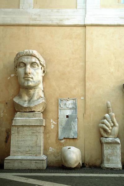 Human Face Photograph - Emperor Constantine by Manuelvelasco