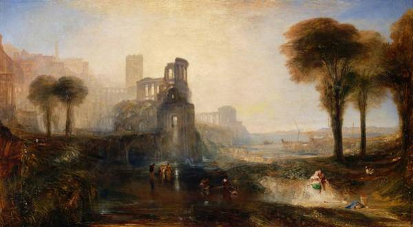 Wall Art - Painting - Emperor Palace Of Caligra And The Bridge - Digital Remastered Edition by William Turner