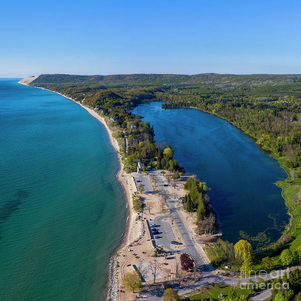 Wall Art - Photograph - Empire And South Bar Lake From Above by Twenty Two North Photography