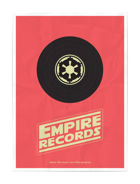 Wall Art - Digital Art - Empire Records Star Wars by Geek N Rock