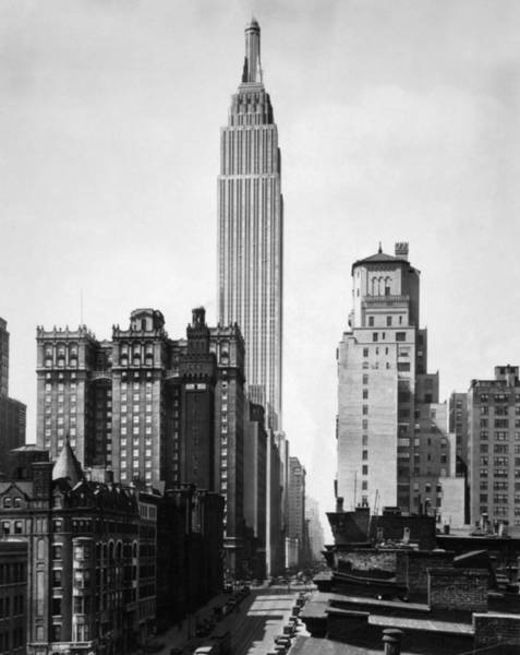 Wall Art - Photograph - Empire State Building - 1931 by War Is Hell Store