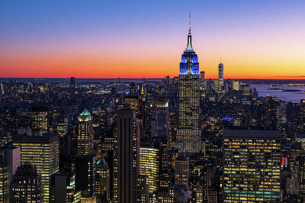 Photograph - Empire State Building And Lower Manhattan At Sunset by Clint Buhler