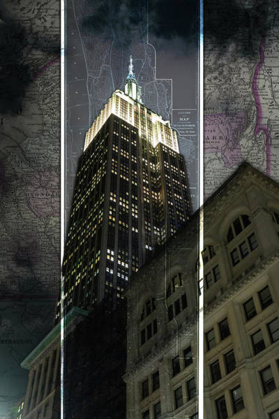 Photograph - Empire State Building Map by Sharon Popek