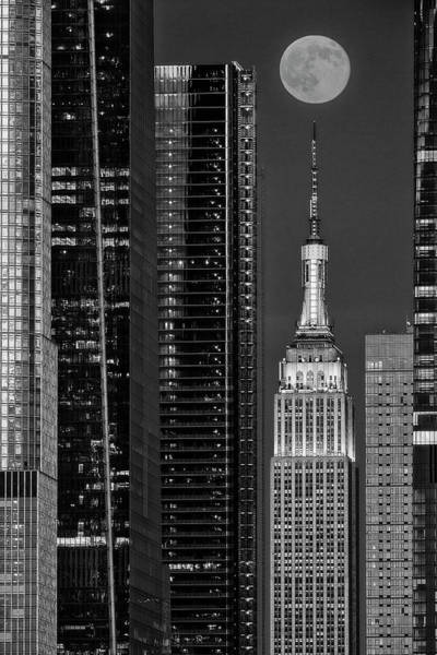 Photograph - Empire State Building Nyc  Bw by Susan Candelario