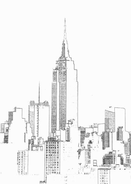 Vertical Line Digital Art - Empire State Building  Photographic by Michael Duva