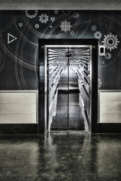 Photograph - Empire State Building Silver Door by Sharon Popek