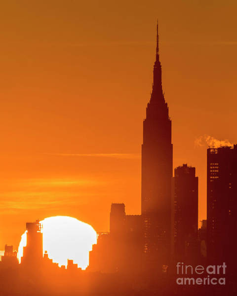 Wall Art - Photograph - Empire State Building Sunrise by Zawhaus Photography