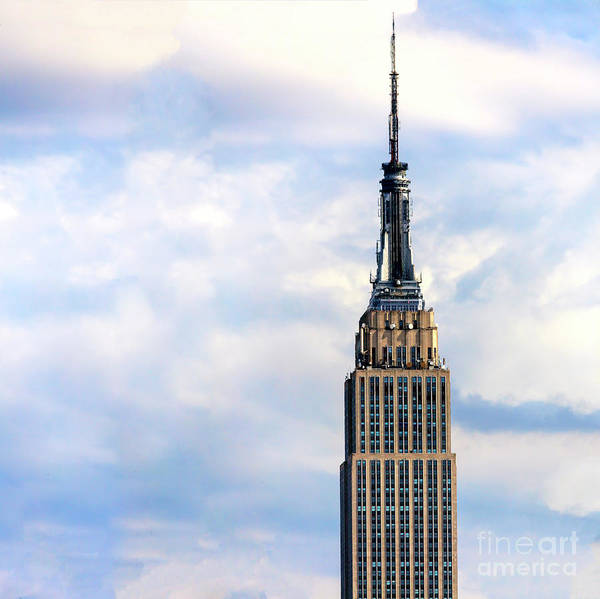 Photograph - Empire State Building Up Close New York City by John Rizzuto