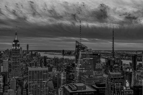Photograph - Empire State Building World Trade Center  Nyc Bw by Susan Candelario
