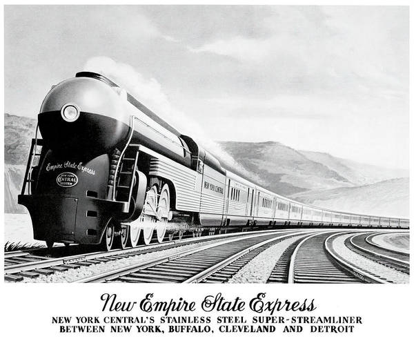 Wall Art - Photograph - Empire State Express Promo C. 1940 by Daniel Hagerman