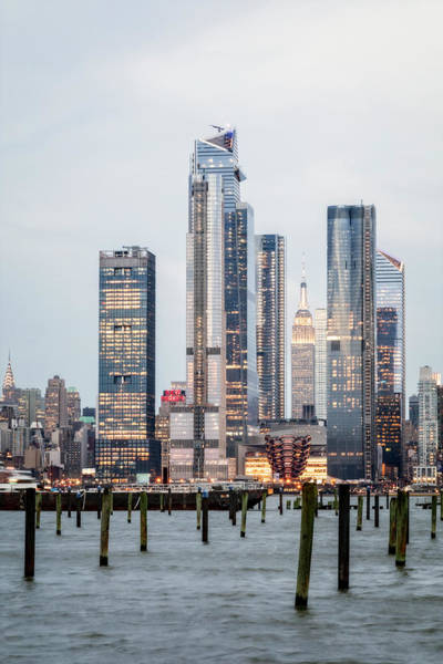 Photograph - Empire State Nyc Hudson Yards  by Susan Candelario