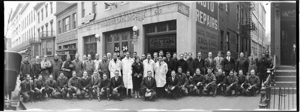 Washington Capitals Photograph - Employees, Frederick Carl Auto Repair by Fred Schutz Collection