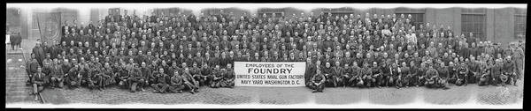 Wall Art - Photograph - Employees Of The Foundry, United States by Fred Schutz Collection