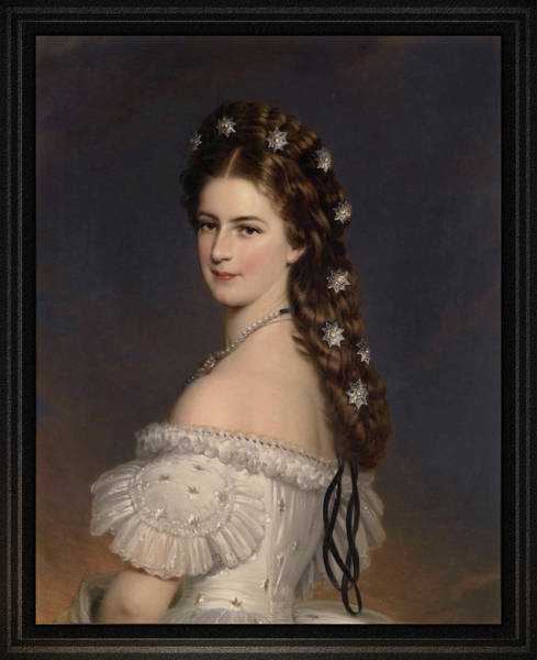 Painting - Empress Elisabeth Of Austria By Franz Xaver Winterhalter by Xzendor7