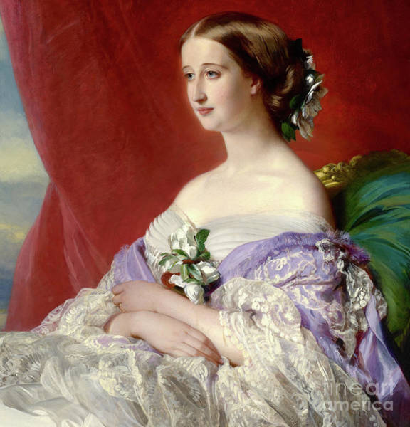 Wall Art - Painting - Empress Eugenie De Montijo by Franz Xaver Winterhalter