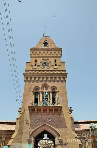 Photograph - Empress Market Clock Tower In Saddar Karachi Pakistan by Imran Ahmed