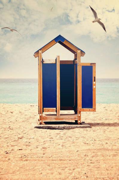 The Doors Wall Art - Photograph - Empty Beach Hut by Elias Kordelakos Photography