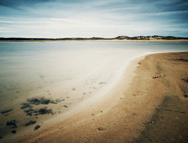 Galicia Photograph - Empty Beach With Vintage Tone by Ramón Espelt Photography