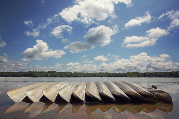 Canoe Photograph - Empty Canoes by Malcolm Macgregor
