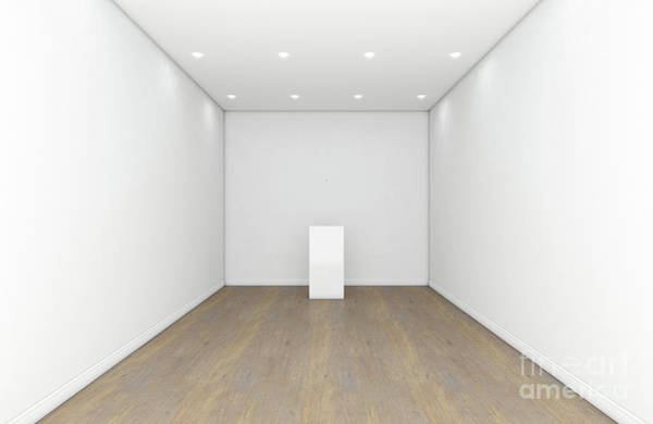 Wall Art - Digital Art - Empty Gallery Room And Plinth by Allan Swart