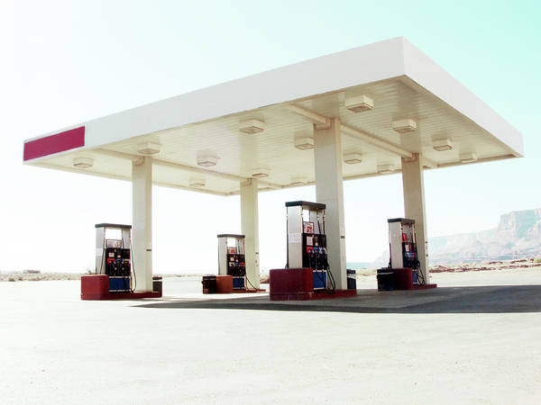 Pump Photograph - Empty Gas Station by Win-initiative