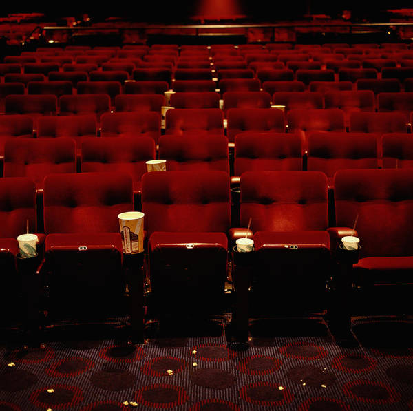Messier Object Photograph - Empty Movie Theater by Ryan Mcvay