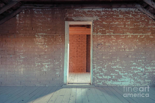 Rood Wall Art - Photograph - Empty Old Brick House Grafton Ghost Town by Wendy Fielding