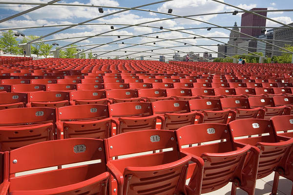 Wall Art - Photograph - Empty Red Chicago Seats by Stevegeer