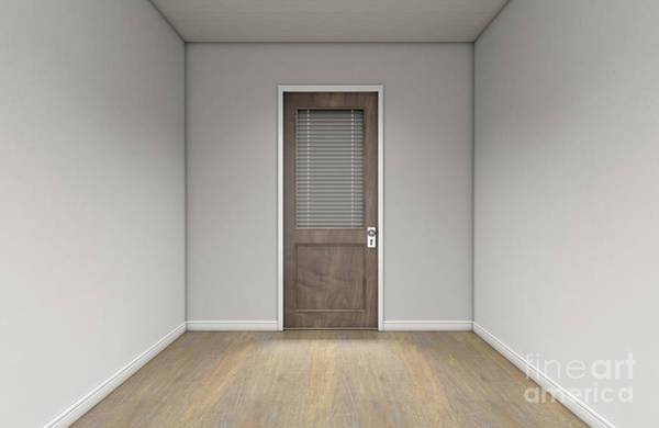 Wall Art - Digital Art - Empty Room And Office Door by Allan Swart