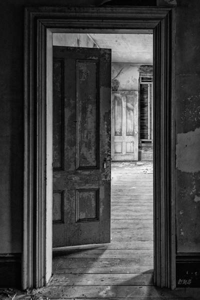 Photograph - Empty Room I Bw by David Gordon