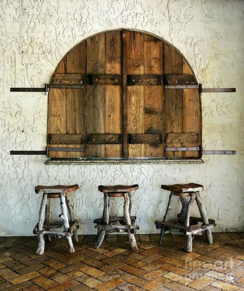 Wall Art - Photograph - Empty Stools by Myrna Bradshaw