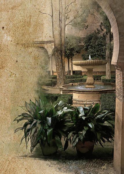 Digital Art - En Los Jardines De Espana by Gina Harrison