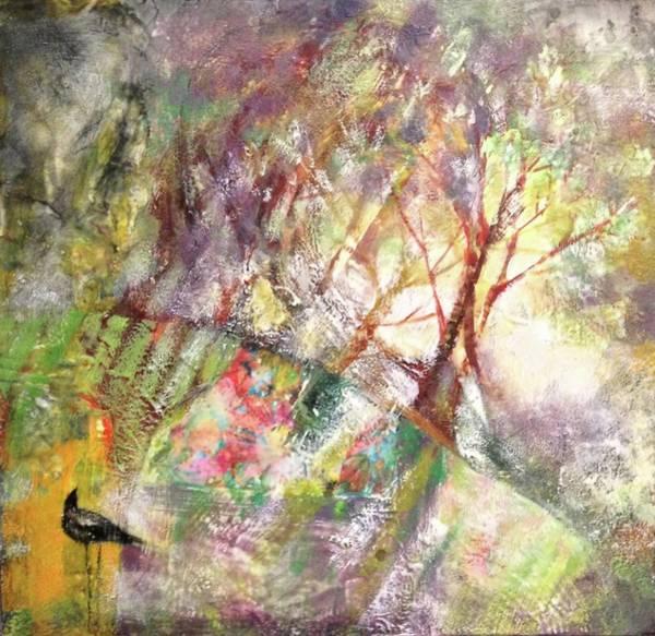 Blackbirds Painting - Enchanted by Barbara Hranilovich