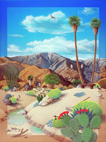 Deserted Wall Art - Painting - Enchanted Desert by Snake Jagger