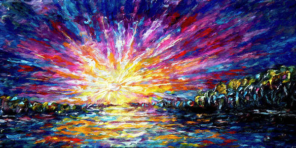 Painting - Enchanted Sunrise  by OLena Art - Lena Owens