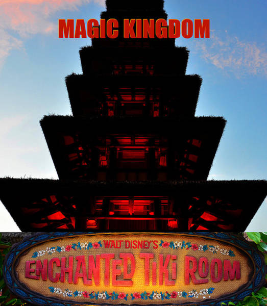 Wall Art - Photograph - Enchanted Tiki Room Poster A by David Lee Thompson