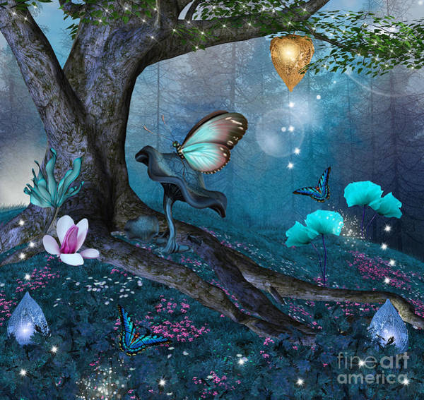 Wall Art - Digital Art - Enchanted Tree In The Middle Of The by Ellerslie