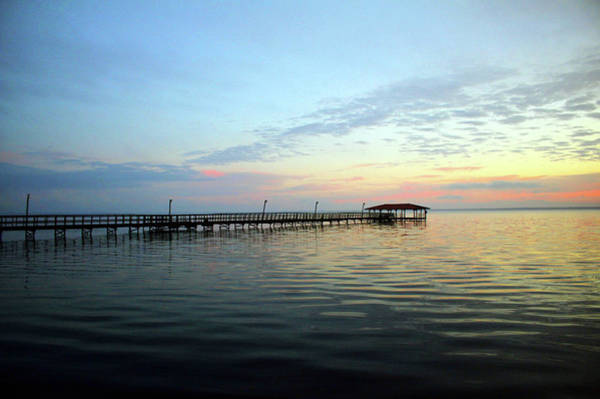 Photograph - End Of Pier Sunset by Cynthia Guinn