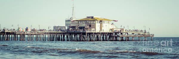 Santa Monica Pier Photograph - End Of Santa Monica Pier Panorama Photo by Paul Velgos