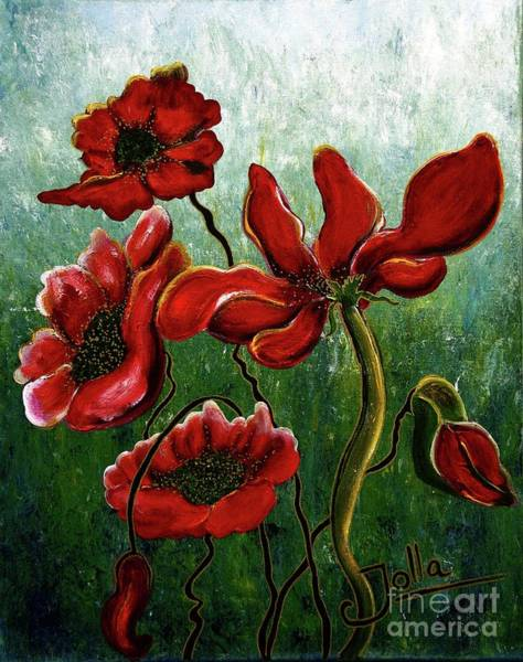 Endless Love Painting - Endless Poppy Love by Jolanta Anna Karolska