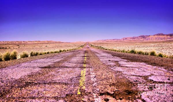 Wall Art - Photograph - Endless Road In Utah by Jeff Swan