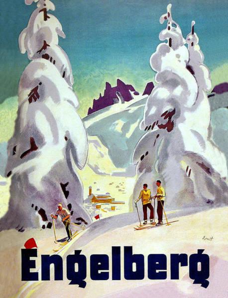 Ski Tracks Wall Art - Digital Art - Engelberg by Long Shot