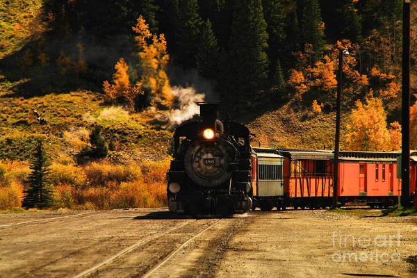 Wall Art - Photograph - Engine 486 Arrives In Silverton Colorado  by Jeff Swan