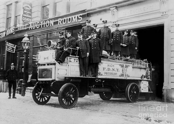 Fire Department Photograph - Engine 72 Fdny 1912 by Jon Neidert