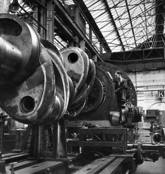 Reportage Photograph - Engineering Workshop by Bert Hardy