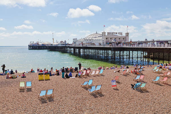 Palace Pier Wall Art - Photograph - Engladn, Sussex, Brighton, View Of by Westend61