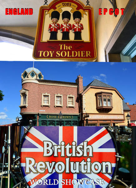 Wall Art - Photograph - England At Epcot Poster Work A by David Lee Thompson
