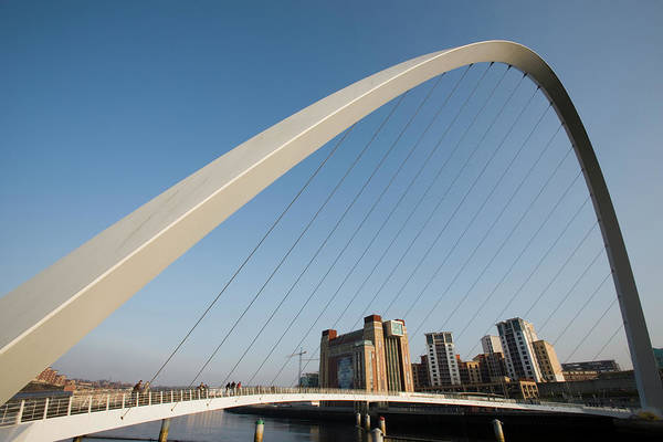 Gateshead Millennium Bridge Photograph - England, Northumberland, Newcastle by Martin Child