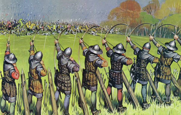 Wall Art - Painting - English Archers At The Battle Of Agincourt by Angus McBride
